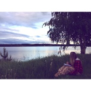 Sitting lakeside in Sweden contemplating mid-twenties life crisis. Category: Life